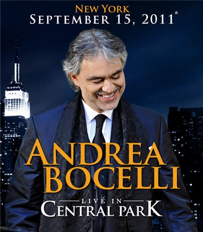 andrea bocelli to perform free concert in nyc central park italia living. Black Bedroom Furniture Sets. Home Design Ideas