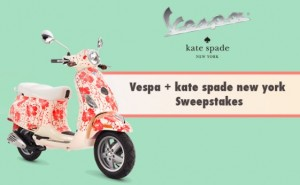 Scoot into Spring – Vespa USA and Kate Spade Sweepstakes