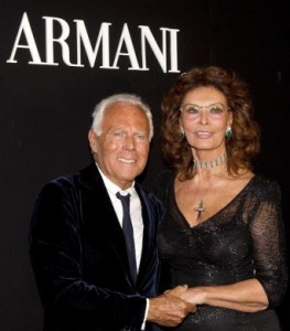 Armani Opens New Store in Rome in Celebrity Style