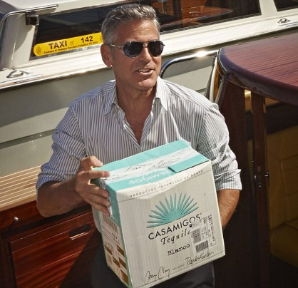 George Clooney Delivers Tequila to Venice's Hotel Cipriani ...