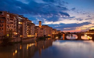 Florence's Foreshortening: A Sunset with a View