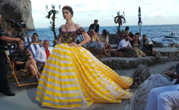 Dolce & Gabbana Hosts Alta Moda FW 2014-15 Catwalk in Capri