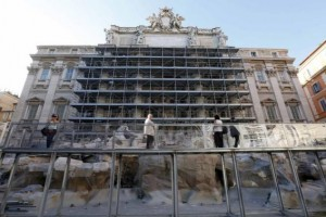 Rome Unveils Trevi Fountain Facelift with Fashionable Backing
