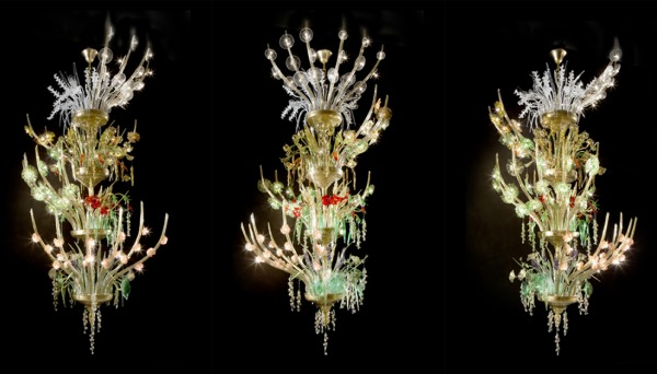 The Quattro Stagioni Murano Chandelier by De Majo