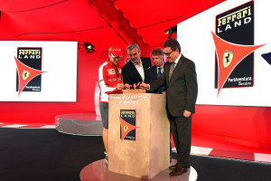 Symbolic First Brick From Home of Enzo Ferrari Laid at Site of Ferrari Land Spain