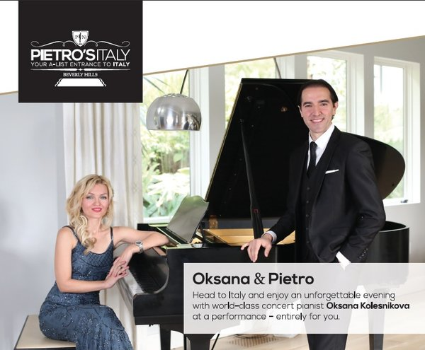 From Beverly Hills to Costa Smeralda: Oksana Offers Music From The Heart In A Rare Benefit Concert