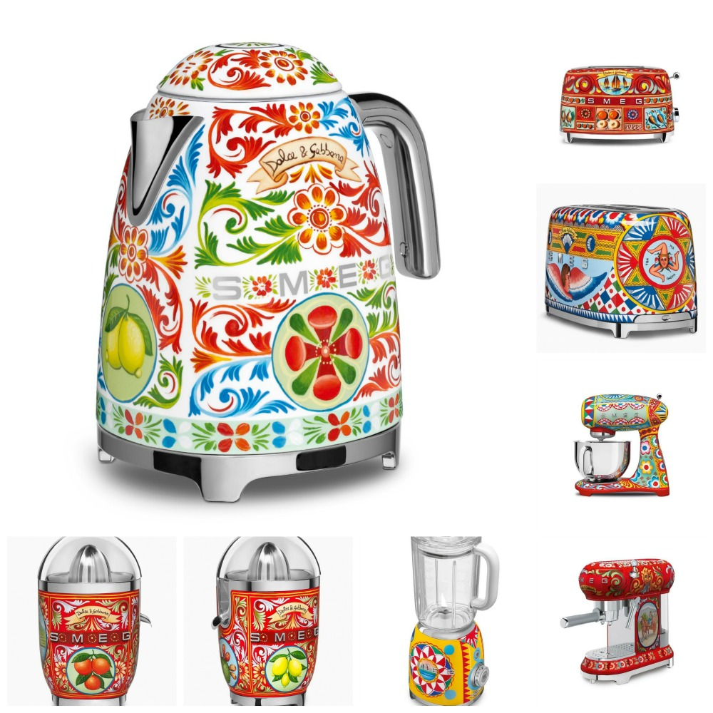 Smeg Launches Dolce Amp Gabbana Kitchen Appliances Italia