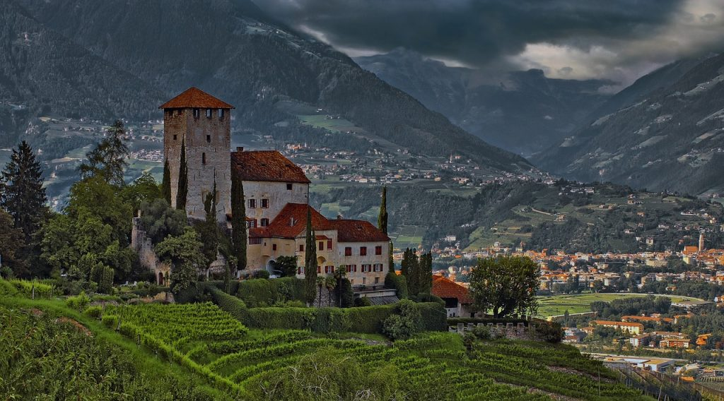 Middle Ages Castle in Tyrol, Italy